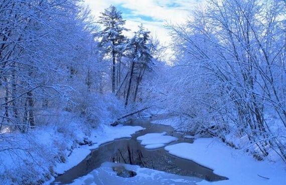 joli paysage enneigé